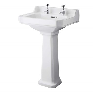 Butler & Rose Catherine 560mm 2 Tap Hole Basin & Pedestal